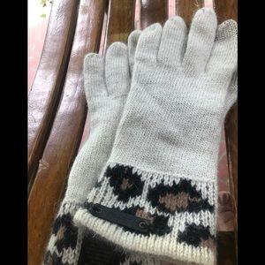 COACH angora rabbit hair gloves